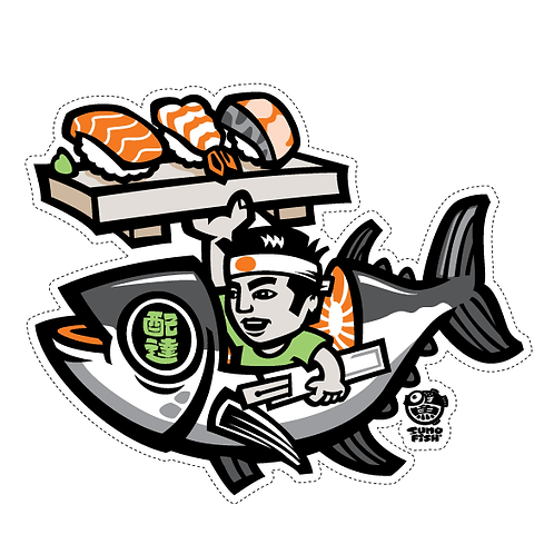 Sushi Delivery 2 Decal