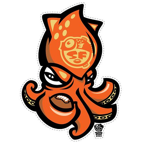 Niner Squid Decal