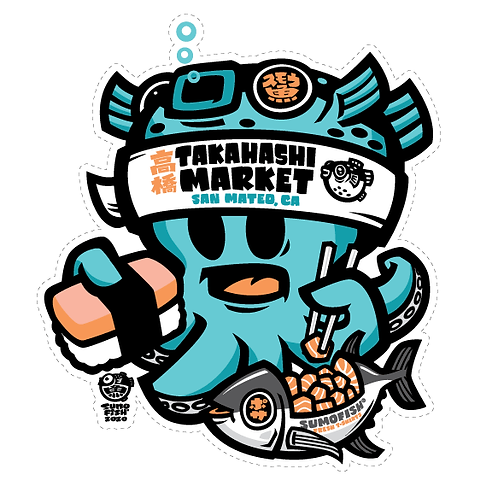 Takahashi Market Tako decal