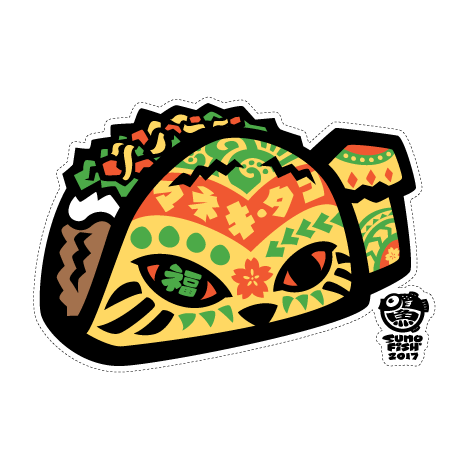 Maneki Taco decal