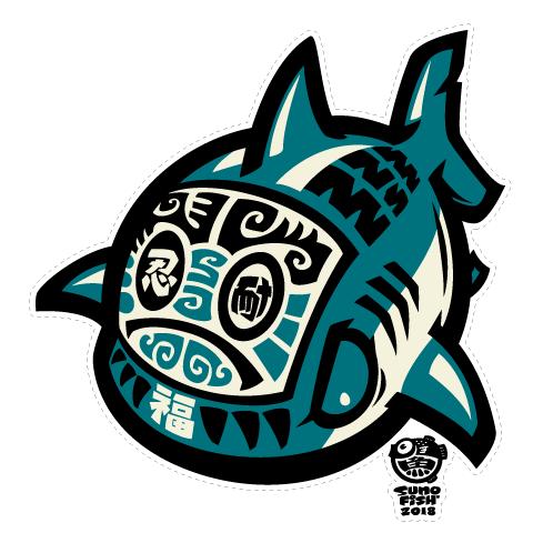Daruma Shark decal