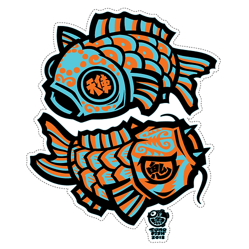 Angel and Devil Koi decal