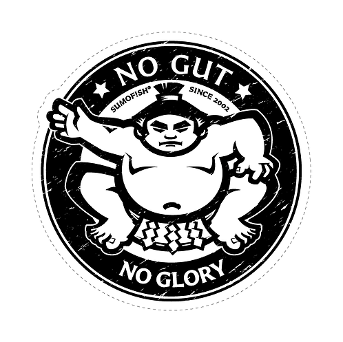 No Gut No Glory decal