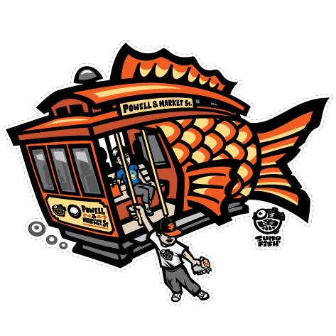 Cable Car Koi decal