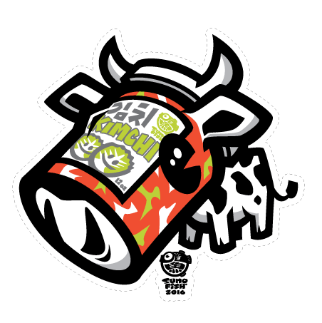 Kimchee Cow decal