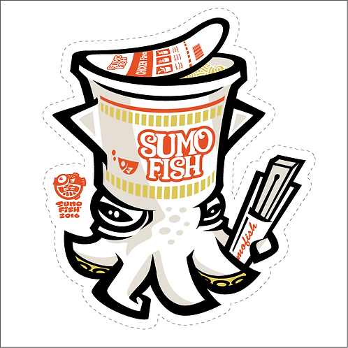 Squid Noodle decal