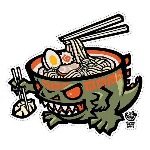 Ramen-zilla decal