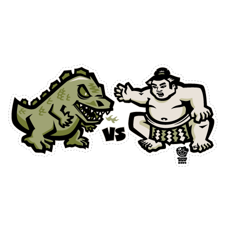 Godzilla vs. Sumo decal