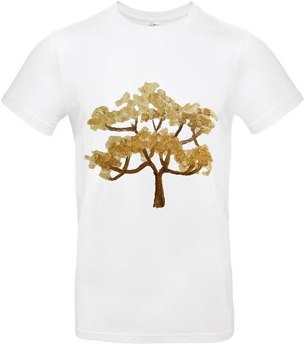 T-shirt Arbre Beige manches courtes