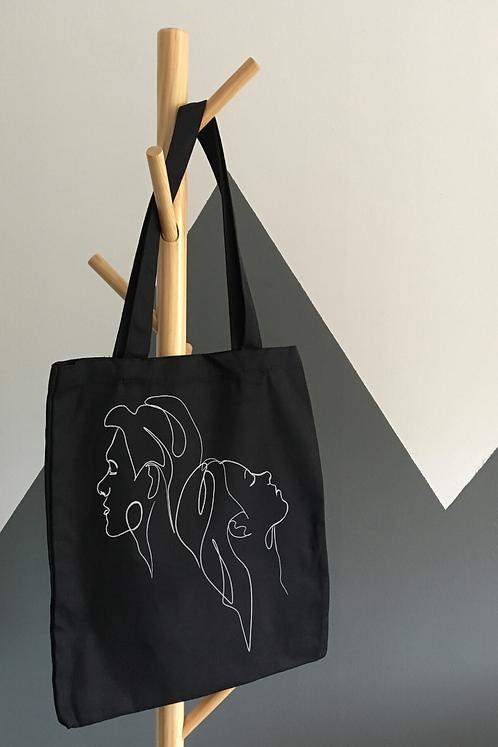 Tote Bag oneline Noir