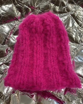 Hot Pink Alpaca Hat