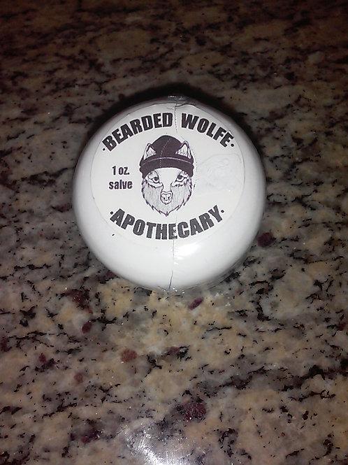 1 oz. CBD Pain Salve  with Bearded Wolfe Apothecary Logo