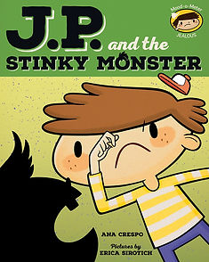 JP and the Stinky Monster, Jealousy, Feelings, Emotions, Children, Toddler, New Baby, Picture Book
