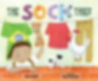 THE SOCK THIEF: A SOCCER STORY, soccer, Brazil, diversity, cultural awareness, Portuguese, bilingual, picture book, children, sports, stealing, ball