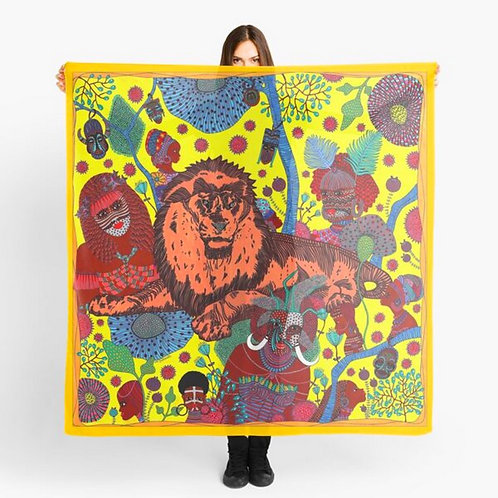 "Large Scarf ""Mystic Africa"""