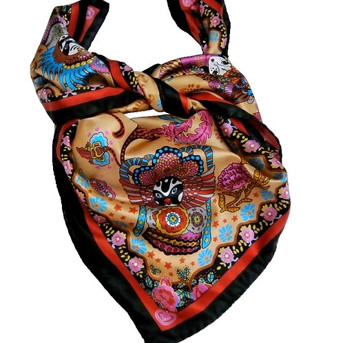 "Silk Scarf ""Magic China"""