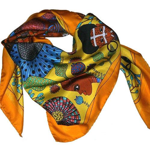 """Silk Scarf """"Mystic Africa"""""""