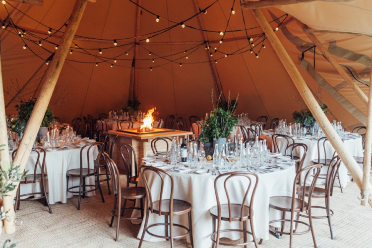 Tipi Luxe - Open Fireplaces