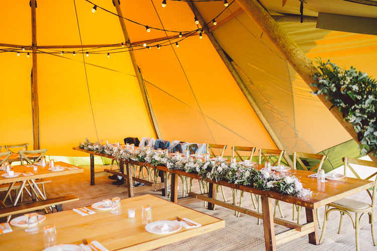 Tipi Luxe - Rustic Feasting Tables (Bridal) and Trestle Feasting Tables (Guests)
