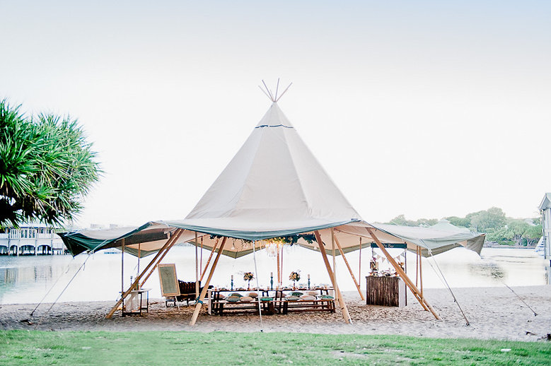 Tipi Luxe Intimate Wedding Reception