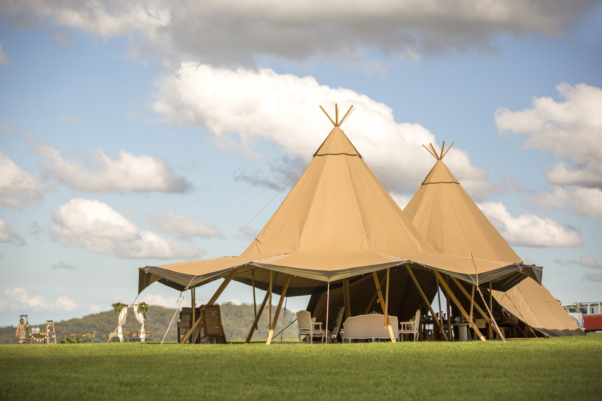 Tipis at Maleny Retreat