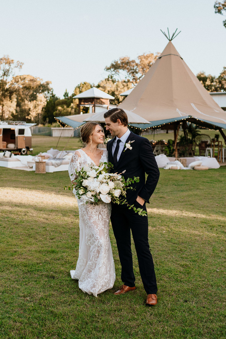 Bohemian Sunshine Coast Tipi Wedding