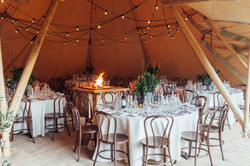 Tipi Luxe - Corporate Events (Banquet Tables & Open Fireplaces)
