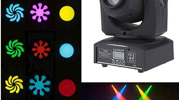 Moving Head 8 Colors and 8 Gobos Light