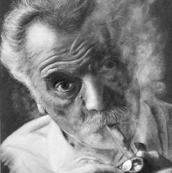 Portrait Brassens au crayon par Flickr.j