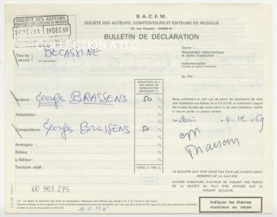 Declaration chanson Bécassine