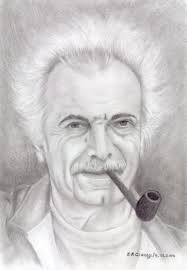 Portrait crayon Brassens par Ledessineux