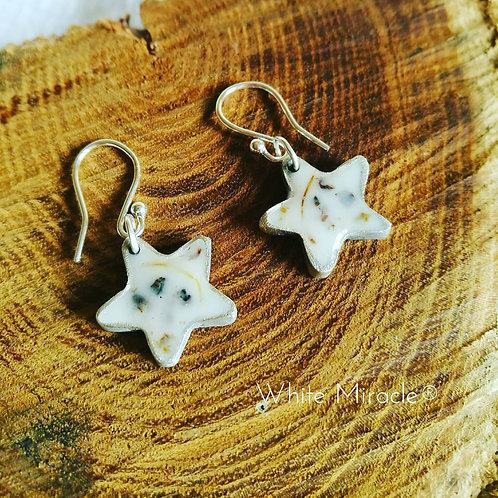 Pendientes de plata de estrellas