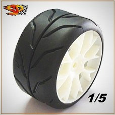 "Competition tires 1/5 DIABOLIK Radial SOFT ""A1"" for Rear"