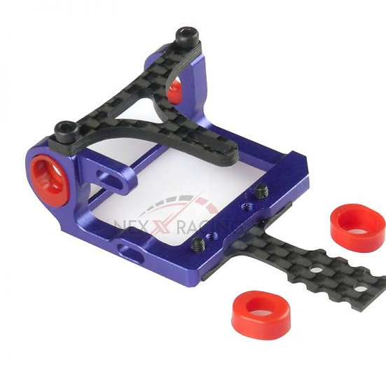 NX-011 Nexx Racing Mini-Z 2WD LCG 98-102mm Alu 7075 Round Motor Mount (BLUE)