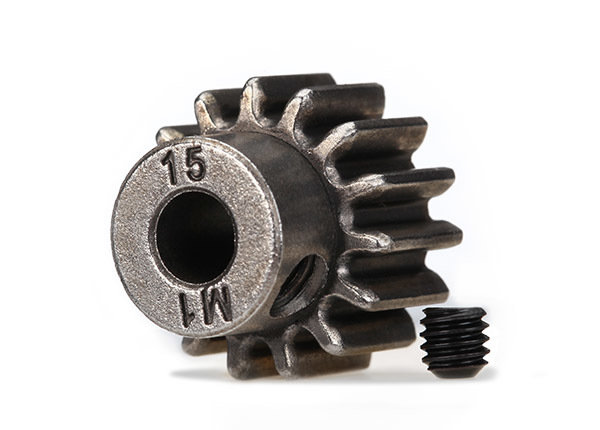 Traxxas Gear 15T pinion 1.0 metric pitch for 5mm shaft TRA6487X