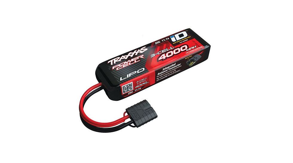 11.1V 4000mAh 25C 3S LiPo Battery with TRA ID (TRA2849X)