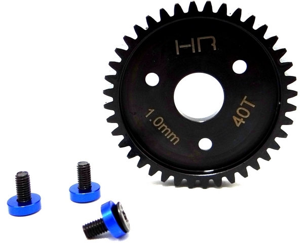 Hot Racing Steel Spur Gear 40T 1.0 Mod Blue-Traxxas SRVO440