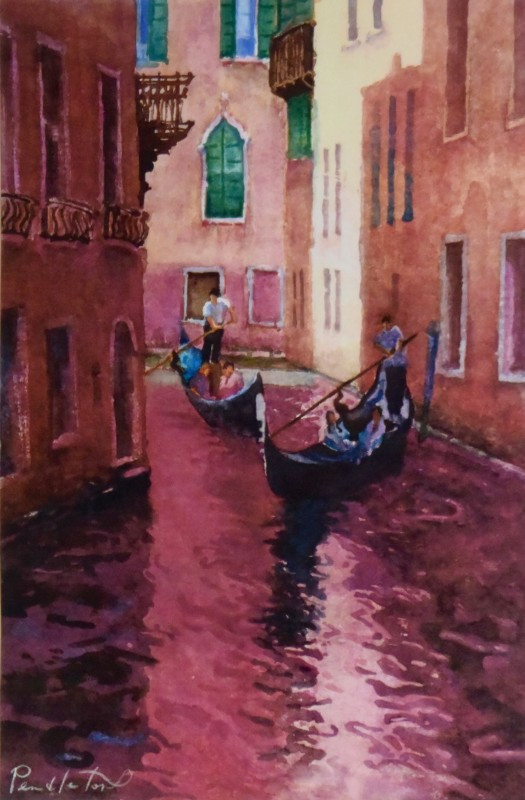 Colors Of Venice Watercolor Painting