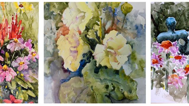 Watercolor Class Demo Paintings