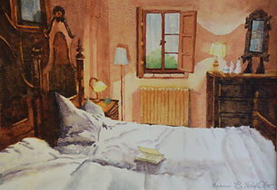 Interior Watercolor Paintings