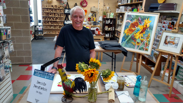 Dennis at Watercolor Days at Meiningers