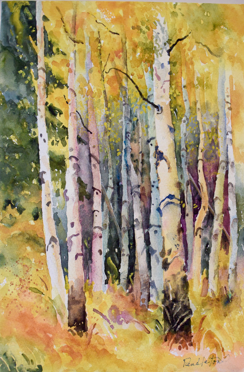 Steamboat Springs Watercolor Painting by Dennis Pendleton