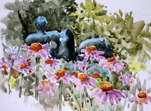 Denver Botanic Gardens Watercolor Painting Workshop