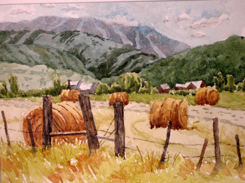Elk River Valley Watercolor Painting