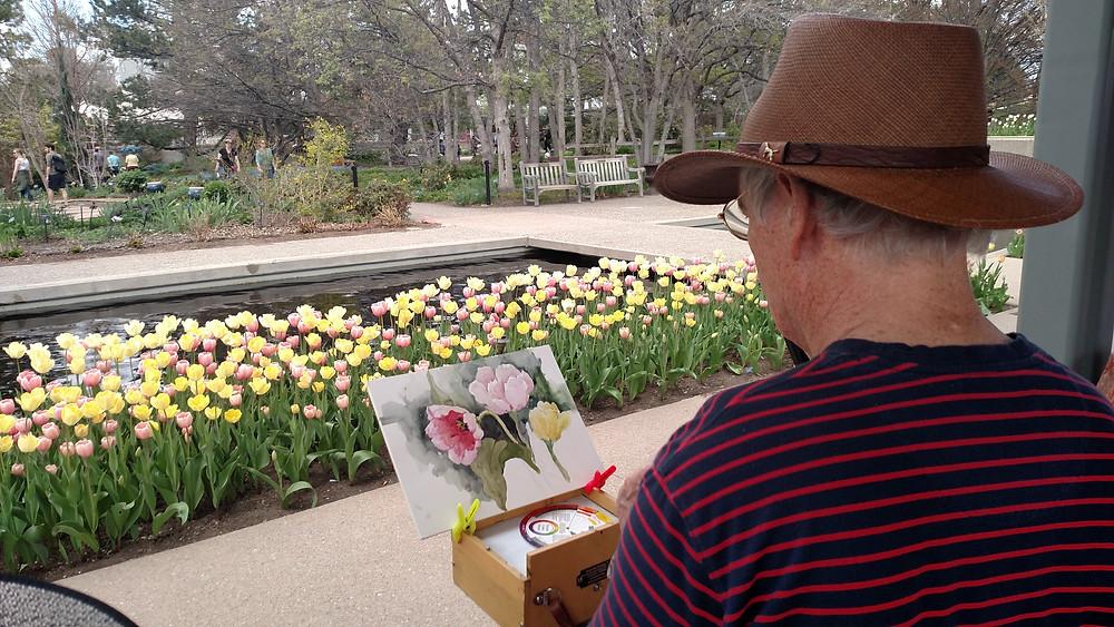 Denver Botanic Gardens Watercolor Workshop Classes