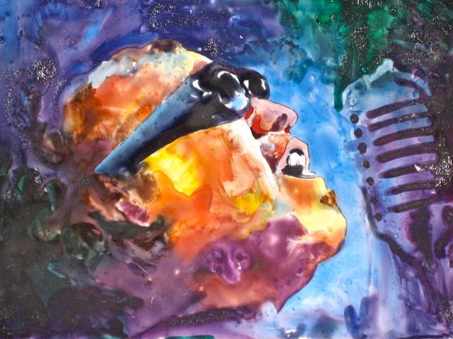 Ray Charles Watercolor Painting