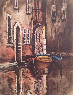 Watercolor Etching Tuscany