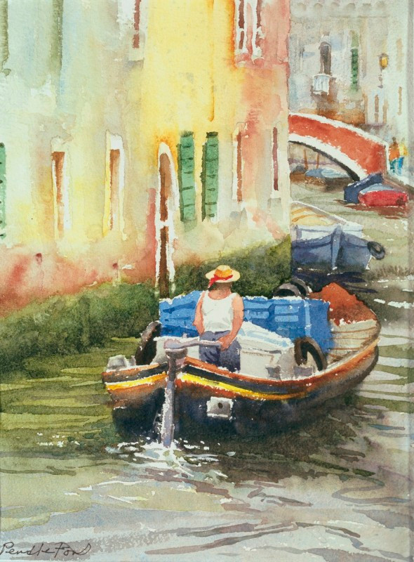Venice Cargo Watercolor Painting by Dennis Pendleton