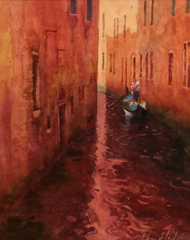 Quiet Afternoon Venice Watercolor Painting