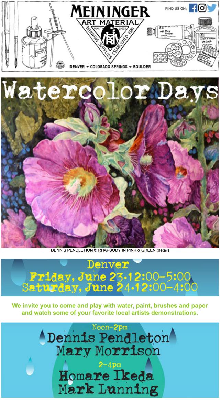 Meininger's Watercolor Days
